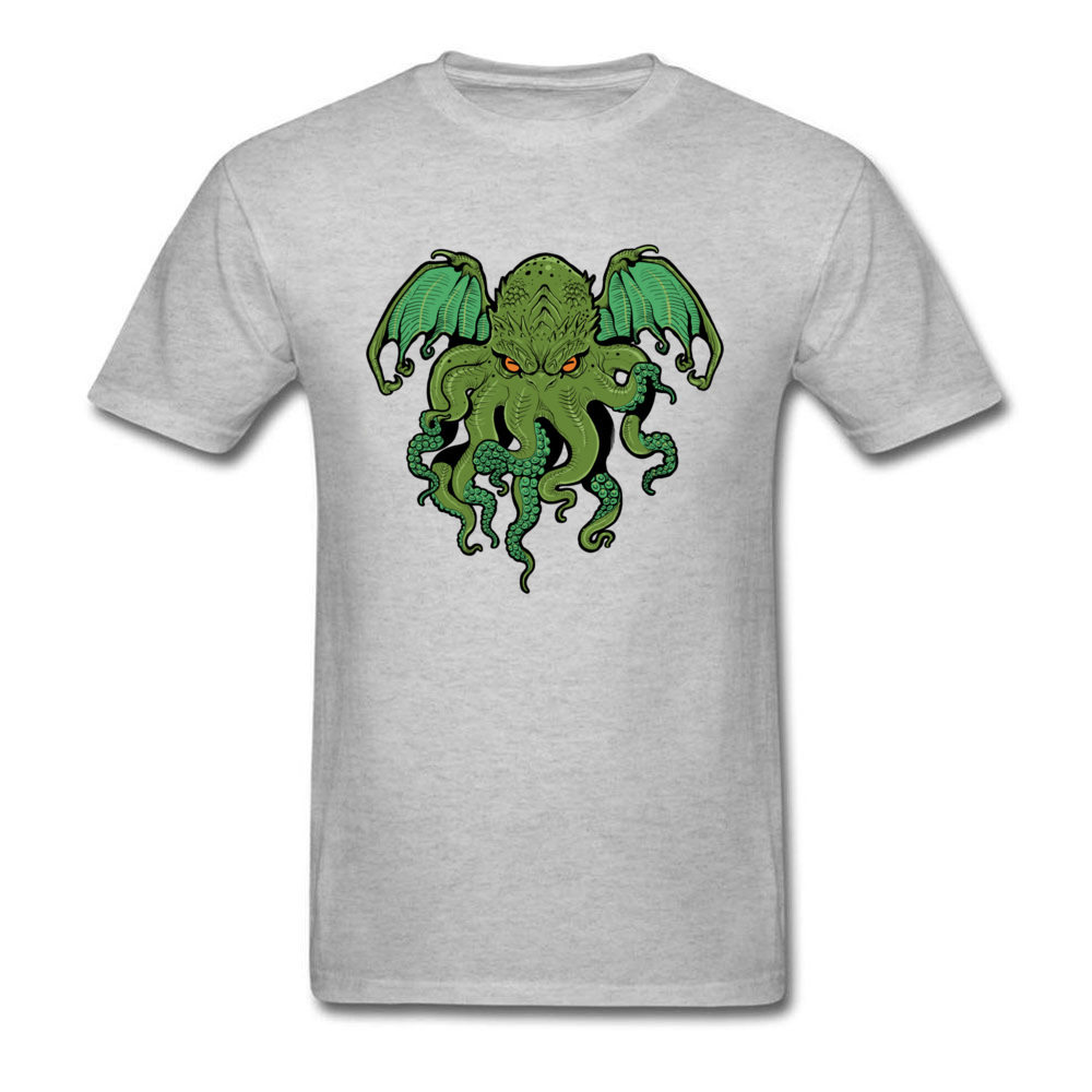 cthulhu 10992 Design ostern Day 100% Cotton Round Collar Mens Tees Summer Tee Shirt Family Short Sleeve T Shirts cthulhu 10992 grey