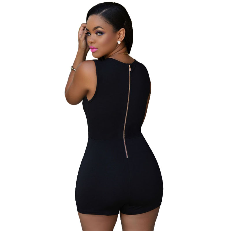 2015 Women Sexy Black Rompers Short Jumpsuits Overalls Bodycon ...