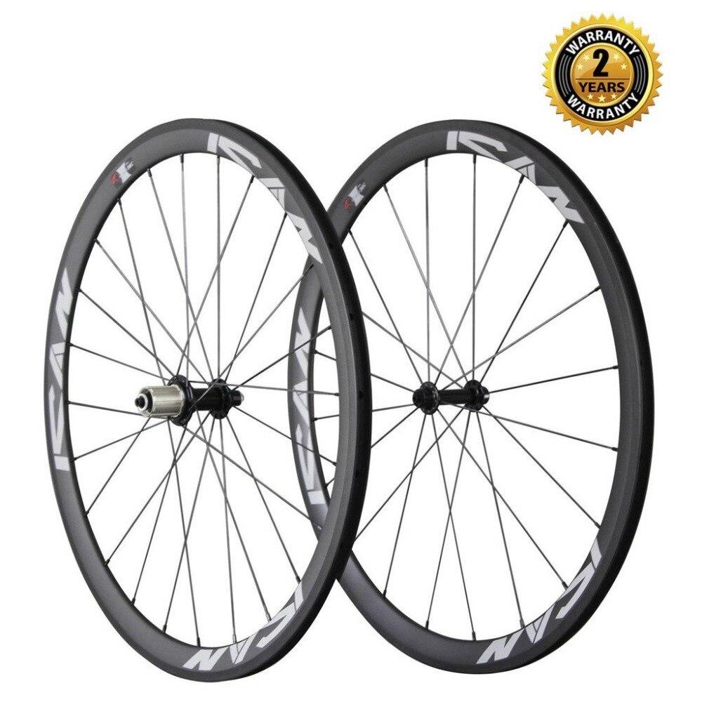 Carbon Road Bike Wheels 38mm Clincher UD Matte 23mm width basalt braking side with CN spoke best for climbing and sprinting
