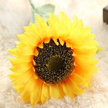 1 Stem Sunflower Artificial Flower Fake Silk Wall Decoration Lifelike Party Decorations