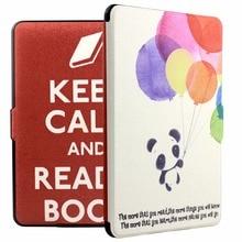 f3b1f7099a753 Ropada estojo de couro PU para Amazon Kindle paperwhite ereader 6   ereader  capa folio inteligente case + protetor de tela