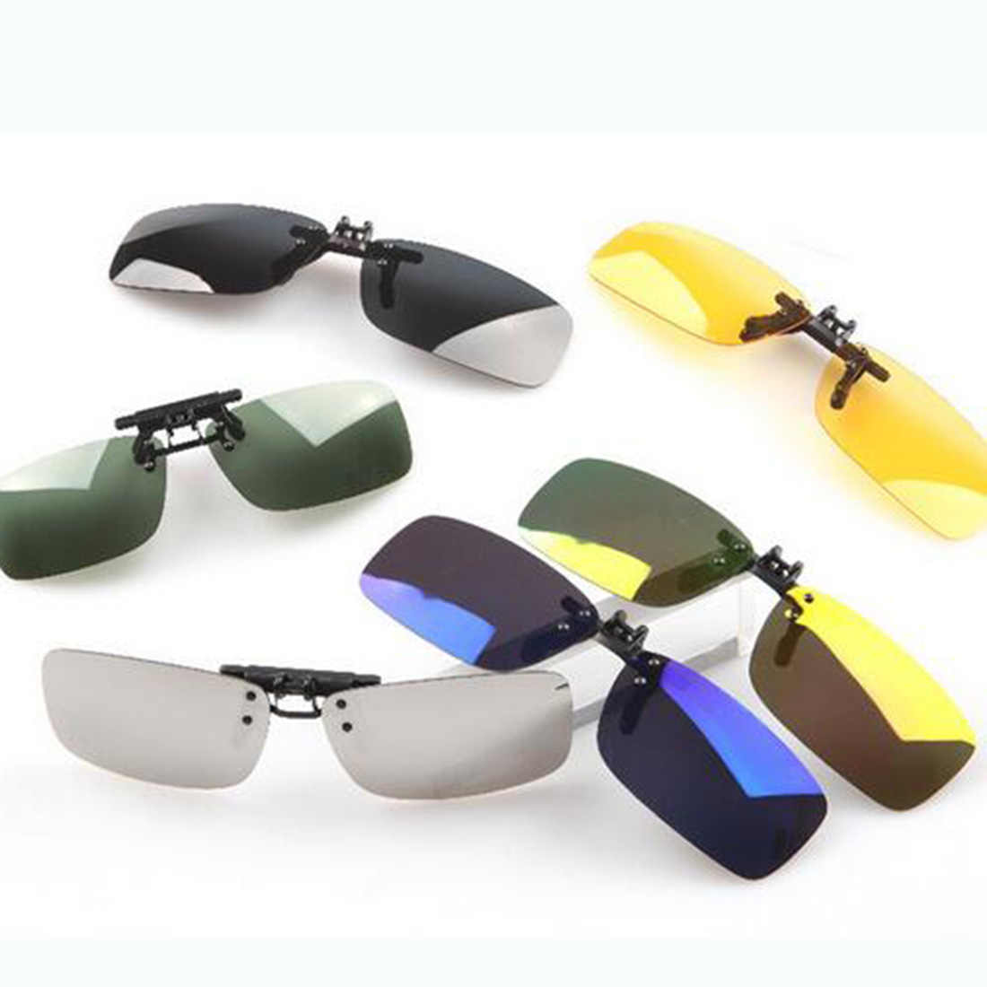 d6cedae449c Brand New Unisex Polarized Clip On Sunglasses Driving Night Vision Lens Anti -UVA Anti-