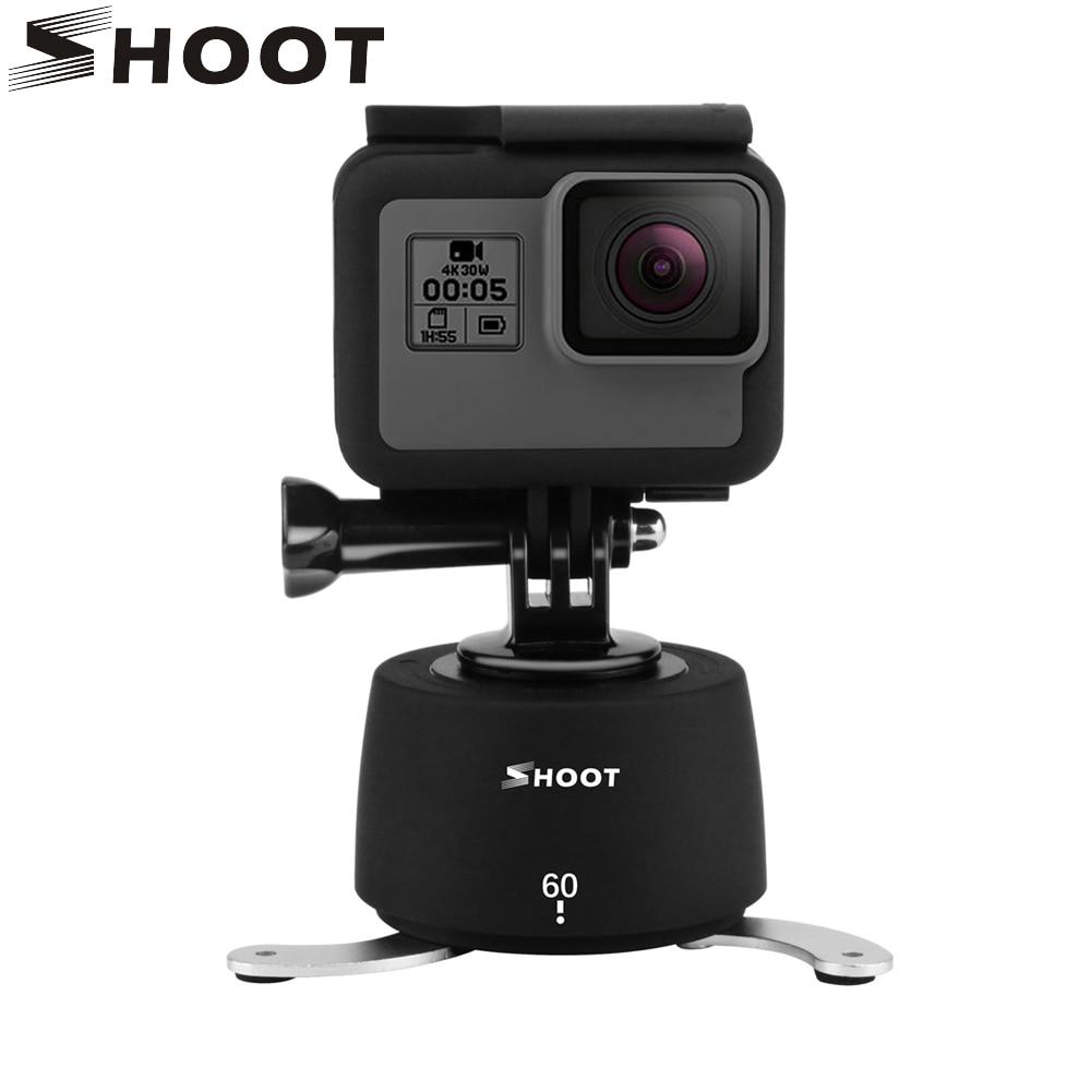 SHOOT Tripod Head Set 360 Degrees Time Lapse Head for GoPro dslr Phone Go Pro Hero 6 5 4 Session Yi 4K SJCAM Eken Action Camera