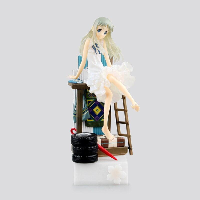 Huong Anime Figure 22 CM Anohana Honma Meiko Menma PVC Actiion Figure Collectible Model Toy