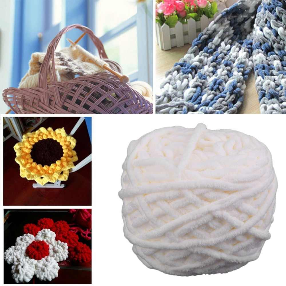Eco-Friendly DIY Home Scarf Sweater Towel Thick Yarn Knitting Yarn Ball Soft Hand-Knitted Yarn Wool Ball White Drop shipping