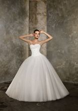 2013 New Arrival Fashion Formal Sweetheart Organza Beads Princess Wedding Dresses Bridal Gown Chapel Train