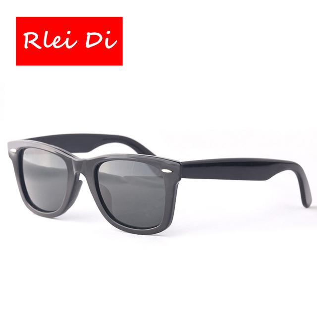 Rlei di alta qualidade homens mulheres óculos de sol quadrados coloridos de vidro 50mm lente do vintage óculos de sol do esporte viagem óculos de grau superior