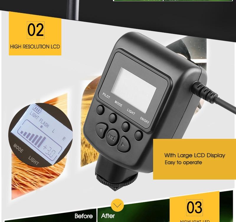 Travor RF 550D LED Macro Ring Flash light with 8 adapter ring For Nikon Canon Panasonic Camera 19