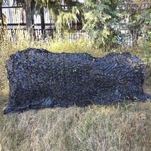 1.5x4m  Black Camouflage Net  Camo Netting For Hunting Camping tent Sun Shelter  Free Shipping