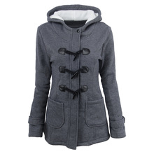 Freeshopping Winter Jacket Women Cotton Zipper Solid Yes Slim Full Skin Long Fund Loose Woven Coat Cotton-padded Clothes