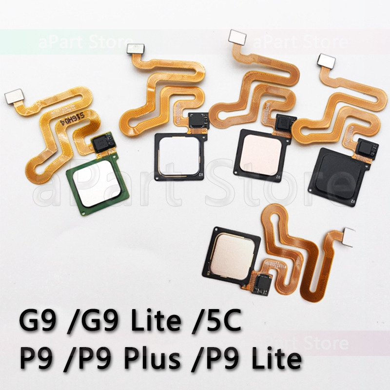 Home Back Button Key Fingerprint Sensor Flex Cable For Huawei P9 Plus Lite G9 Lite 5C Home Flex Original