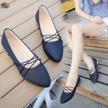 Mary Janes women shoes flats Spring Autumn pointy student silver strap designer Lady Work flat luxury 2019 Pointed