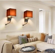 BOKT Vintage  Creative Industrial Wall Sconce Lights Cloth Indoor Bedroom lamp Bathroom Balcony Bar Aisle Home Lamp