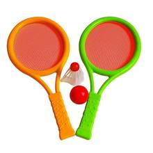 Tennis Badminton Rackets Balls Set Children Kids Sports Outdoor Educational Parent-Child Toys for Boys Girls Children(China)