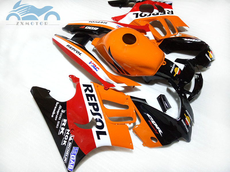 Body fairings set for <font><b>HONDA</b></font> <font><b>CBR</b></font> 600 F3 1995 1996 <font><b>CBR</b></font> <font><b>600F</b></font> 95 96 aftermarket road racing orange REPSOL CBR600F3 fairing kits image