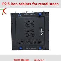 480*480 мм 32 сканирования P2.5 гладить шкаф с дверью дисплей для аренды СВЕТОДИОДНЫЙ экран