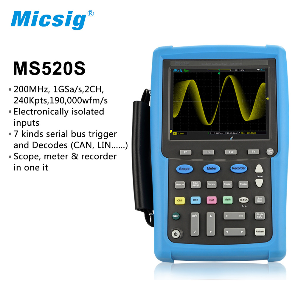 все цены на Micsig isolated channels digital handheld oscilloscope 100MHz 200MHz scopemeter oscilloscope Automotive touchscreen portable онлайн