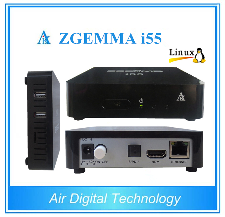 ФОТО 10pcs/lot Original ZGEMMA i55 with Dual Core Linux OS Enigma2 IPTV Set Top BOX IPTV with  High Performance
