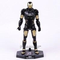 Homem De Ferro Mark MK HC 42 x PRETO OURO PVC Action Figure Collectible Modelo Toy com Luz LED 28 cm