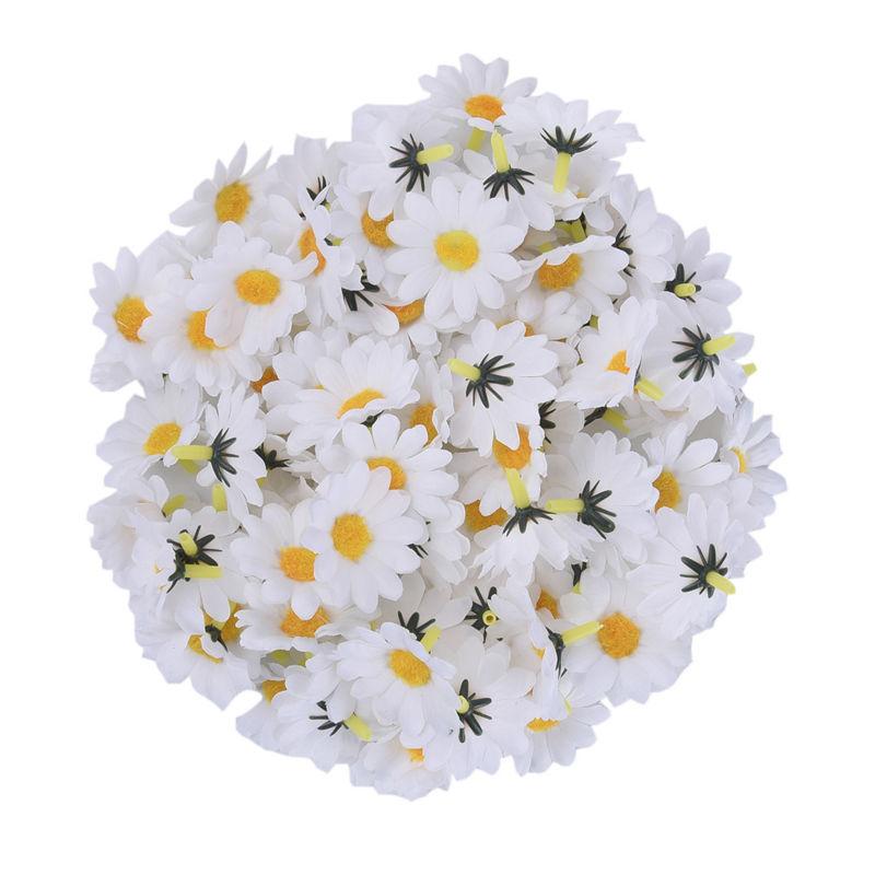 100 Unids / lote Seda Crisantemo Handmake Cabeza de Flor Artificial - Para fiestas y celebraciones - foto 3