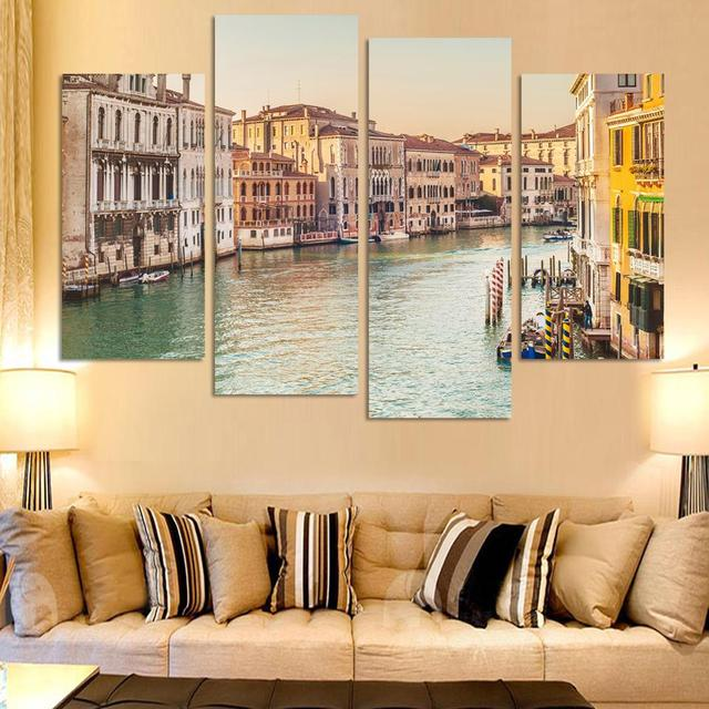 4 Pieces Unframed Hot Sell Modern wall Painting Home Decorative Art ...