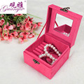 Guanya Lovely Jewelry Display  Jewelry Box Organizer Flannel square Portable Necklace Case for Jewelry Storage