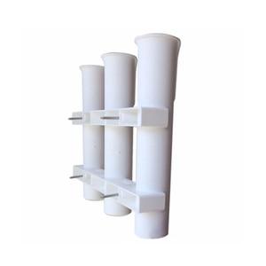 Image 4 - 3 Tubes Plastic Boat Rod Holder For Boats Marine Yacht Fishing Rod Rack Socket Fishing Box Accessories