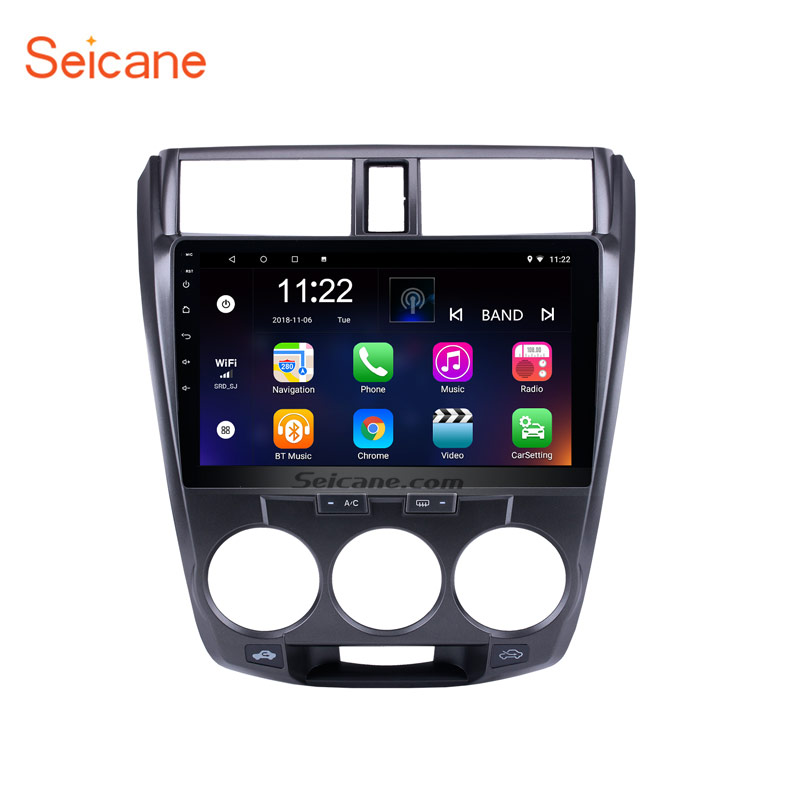 <font><b>Seicane</b></font> 10.1 inch Android 8.1 Car Stereo Radio GPS Navi Bluetooth Player for 2011 2012 2013 2014 2015 2016 <font><b>Honda</b></font> <font><b>CITY</b></font> image
