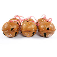 6pcs Rust Process Christmas Bell Metal Jingle Bell 80mm 80mm 70mm Christmas Tree Decoration For Party