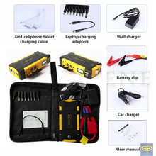 Super Car Пусковые устройства 12 В 600a пакет Портативный Starter Запасные Аккумуляторы для телефонов Зарядное устройство для автомобиля Батарея Booster Buster пусковое устройство Diesel