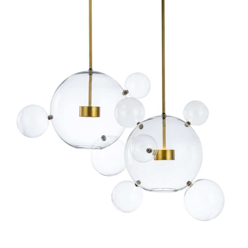 Modern Creative Glass Bubble Pendant Light Contemporary Hanging Clear Glass Bubble LED Pendant Lamp Indoor Lighting Fixture free shipping european modern creative gaint clear glass bulb pendant light pendant lamp contemporary home decoration
