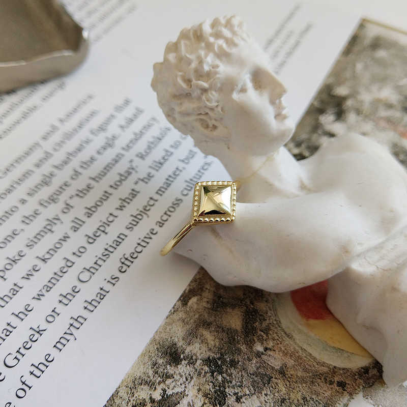 Peri'sBox 925 เงินสเตอร์ลิงแหวนเรขาคณิตสำหรับผู้หญิง Chunky ปรับ Layered แหวนบุคลิกภาพแหวนที่กำหนดเอง Mujer