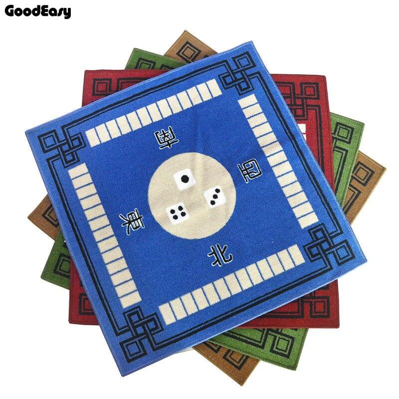 Mahjong Table Cloth Mahjong Table Mat Rub mute 4 Colors Optional Household Poker Thickening Carpet Family Party Game 1pcs(China)