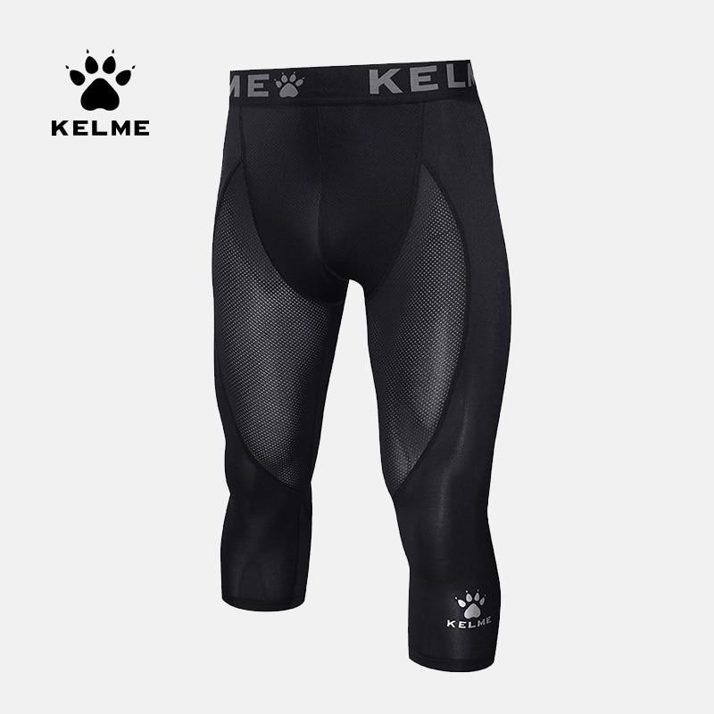 Sport Training 3 4 Compression Pants Running Tights Jogging Leggings KELME 3981508