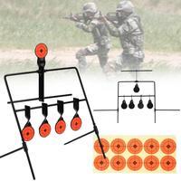 WoSporT 5 Plate Reset Shooting Target Tactical Metal Steel Slingshot BB Gun Airsoft Paintball Archery Hunting