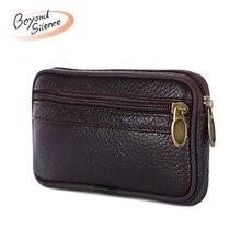 Luxury Men Wallet Genuine Leather Mens Clutch Handbag Zipper Coin Purse Solid Retro Money Bags
