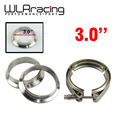 "WLR STORE-  3""  V- Band clamp flange Kit (Stainless Steel 304 Clamp+SUS304 Flange) For turbo exhaust downpipe"