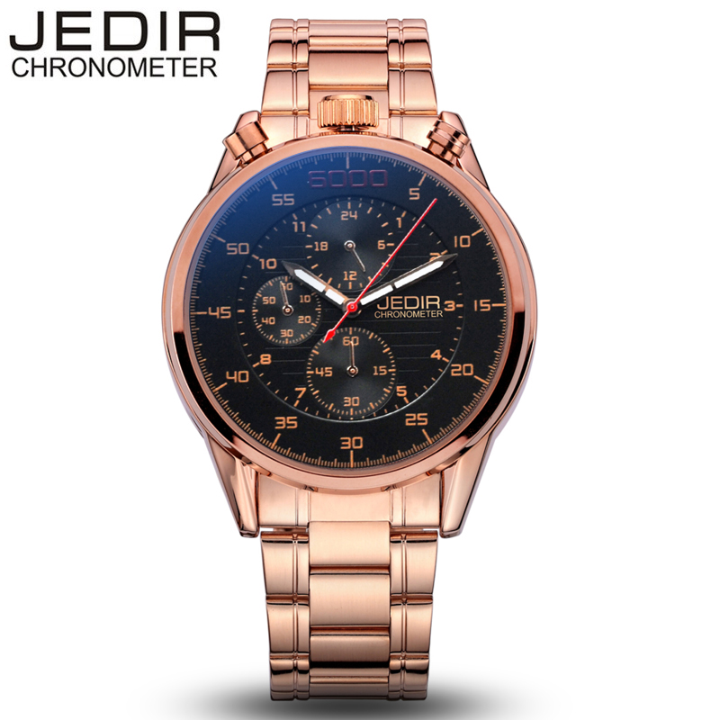 2017 Men Watches Top Brand Luxury JEDIR Business Stainless Steel Quartz Watch Men Sport Waterproof Clock Uhren relogio masculino  jedir brand watches men luxury business stainless steel quartz watch chronograph luminous clock male sports waterproof watches