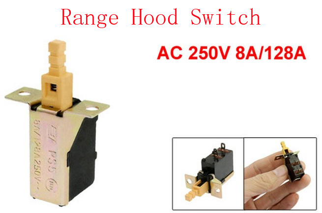 Replacement Ac 250v 8a/128a Push Button Dpst Power Switch For Range Hood 20pcs Home Appliances