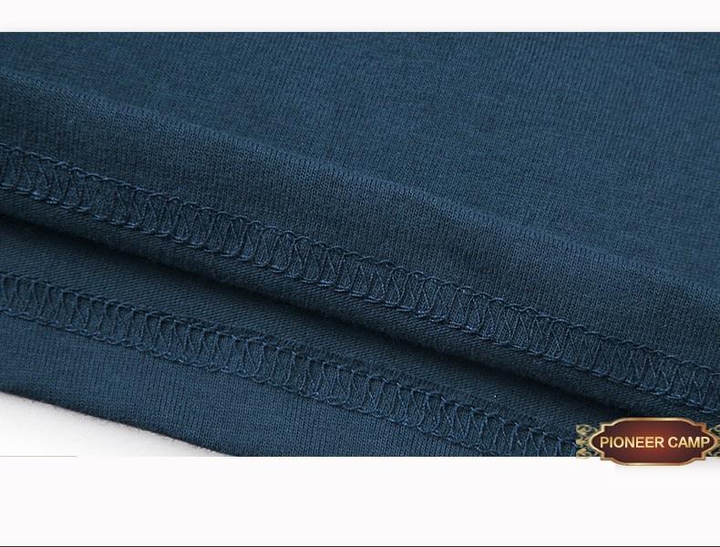 Pioneer Camp summer short t shirt men brand clothing high quality pure cotton male t-shirt print tshirt men tee shirts 522056