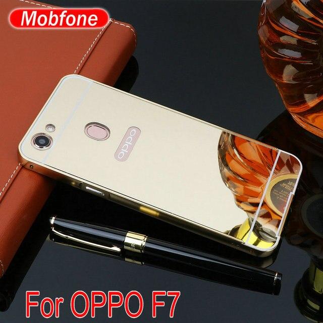 size 40 8e607 5f279 US $3.89  Case For OPPO F7 , Luxury Ultra Slim Aluminum Metal Frame Acrylic  Mirror Back Cover Case For Oppo F7 (6.23