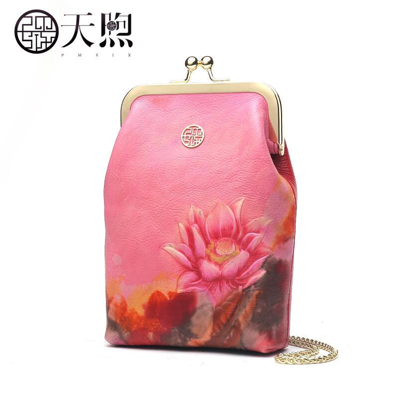 Pmsix brand handbags 2018 new ladies handbag Fashion atmosphere one shoulder slung handbag
