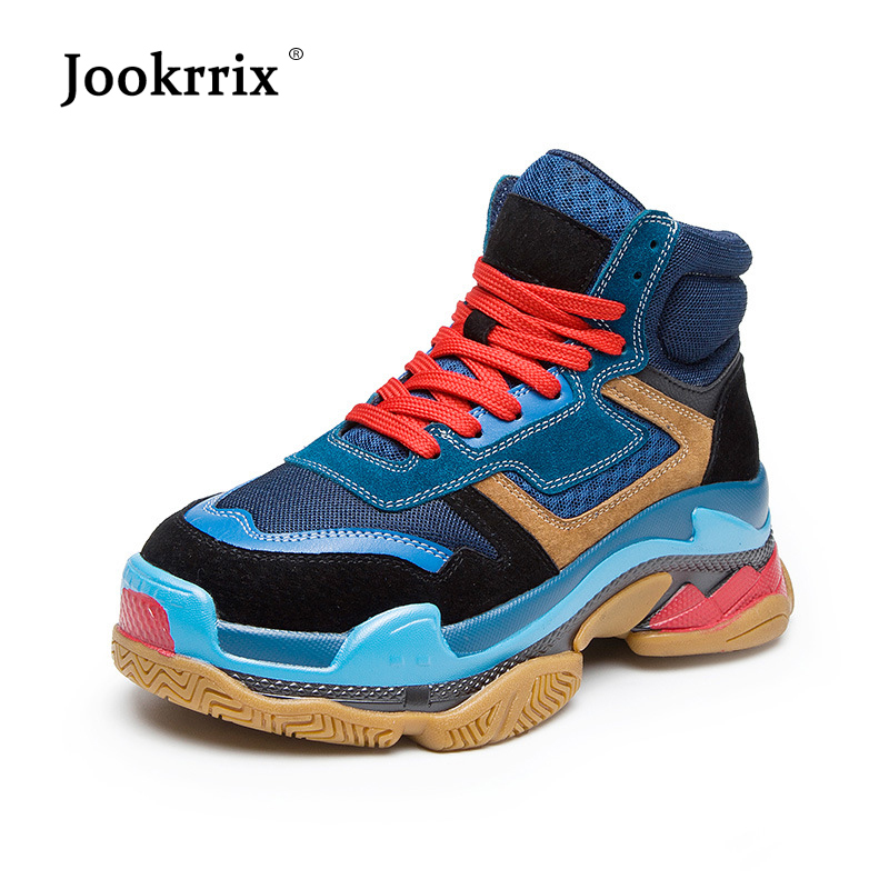 Jookrrix 2018 Casual Shoes Women Fashion Brand Sneakers Lady chaussure Autumn New Female footware zapatos de mujer Real Leather