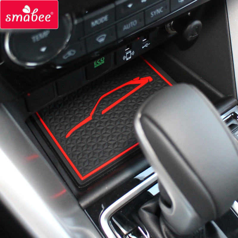 smabee  Gate slot Mats For MITSUBISHI ECLIPSE CROSS 2017-2019 Non-slip mats Automotive Cup Holders red/white/blacksmabee  Gate slot Mats For MITSUBISHI ECLIPSE CROSS 2017-2019 Non-slip mats Automotive Cup Holders red/white/black