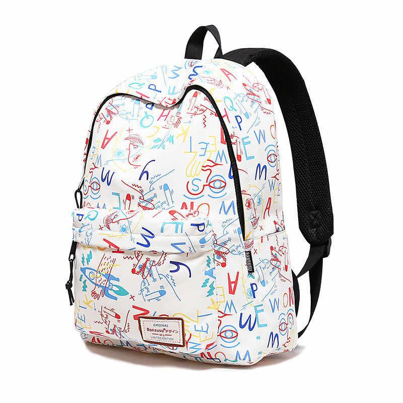 Прекрасный Для женщин рюкзак женский Колледж студенты рюкзак дорожные сумки большой Ёмкость Геометрия Pattern Печать девушки ранец