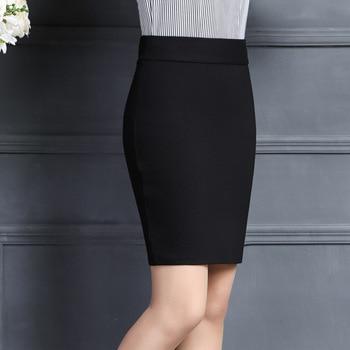 2019 New Women Skirt Work Fashion Stretch Slim High Waist Pencil Skirt Bodycon Sexy Mini Office Work Skirt Free Shipping 2