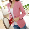 Hot Spring And Autumn Women's Casual Blazer Solid color Single Button Cardigan Slim Coat S-XXL Size
