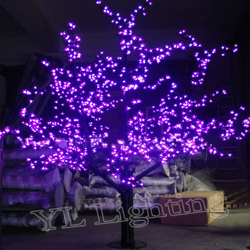 metros led prpura flor de cerezo decoracin del da de fiesta de navidad