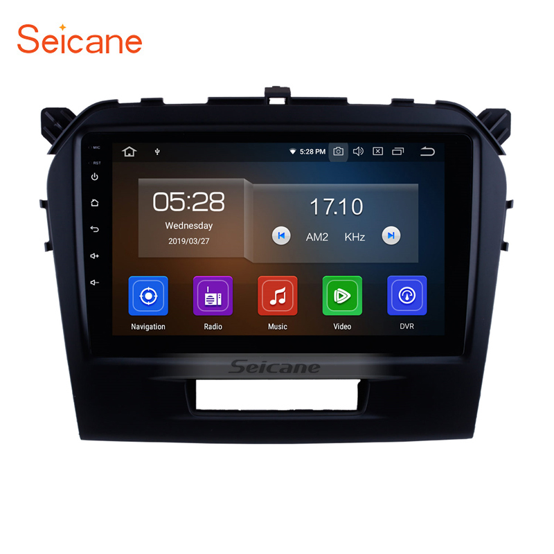 Seicane Android 9.0 9 inch Car Radio DVD Player For 2015 2016 Suzuki Vitara GPS Navigation Head Unit With Mirror link OBD2 image