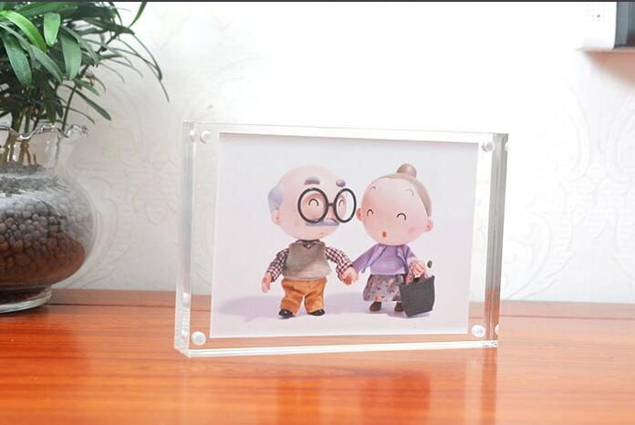 5 Inch TO 14 Inch Double Faced Crystal Photo Frame Desk Set Thick Transparent Acrylic Photo